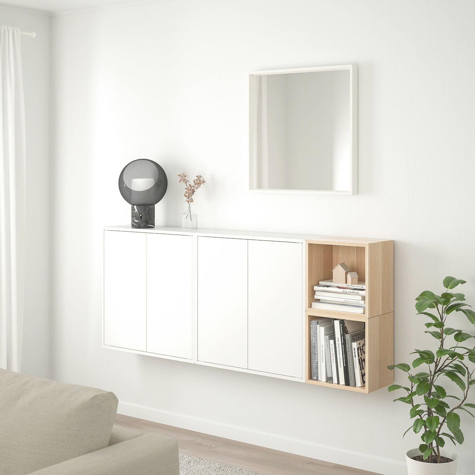 Ikea – Eket Wall-Mounted Cabinet Combination White, White within Best of Ikea Wall Cabinets Living Room