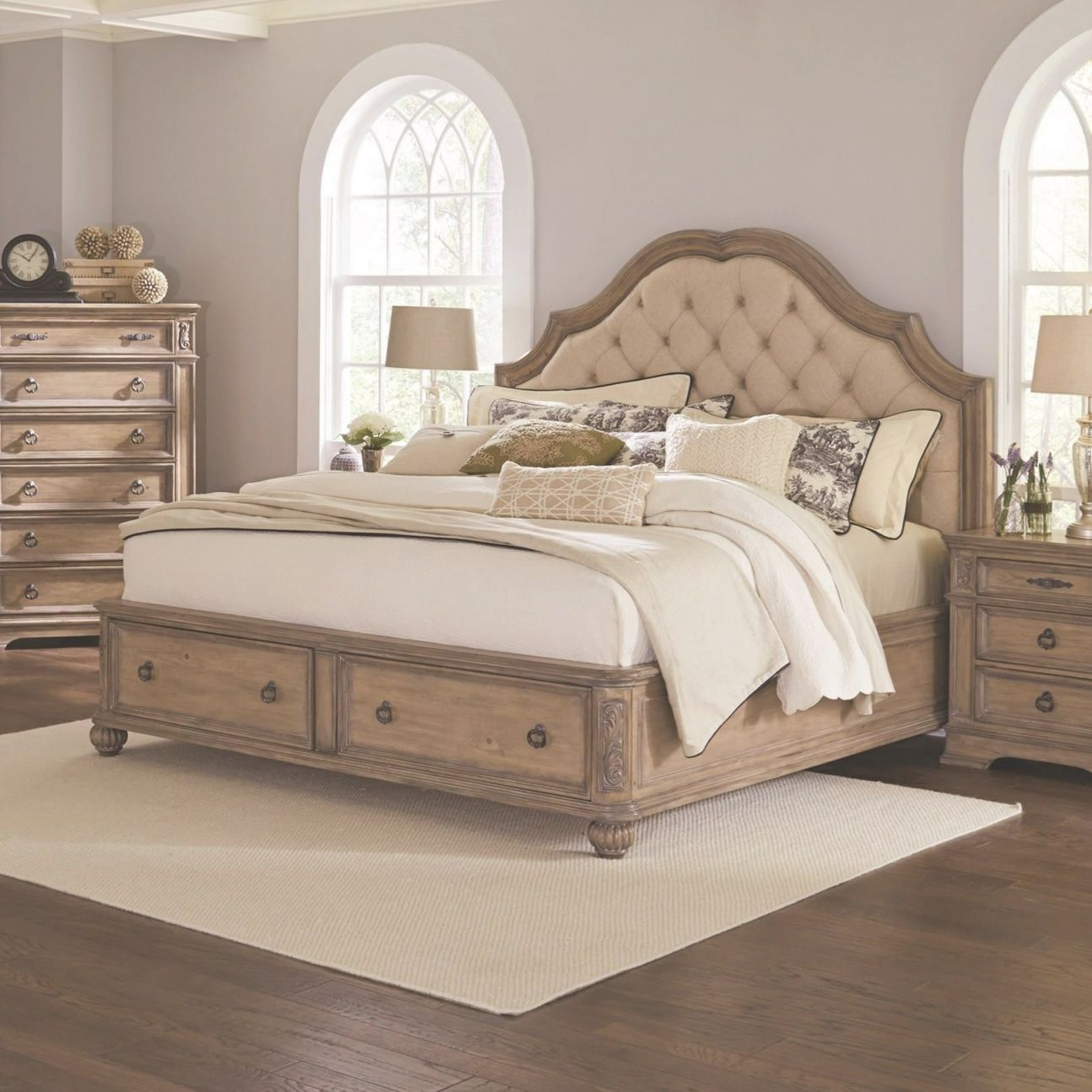 Ilana Queen Storage Bed With Upholstered Headboardcoaster At Northeast  Factory Direct with Cheap Queen Bedroom Furniture Sets
