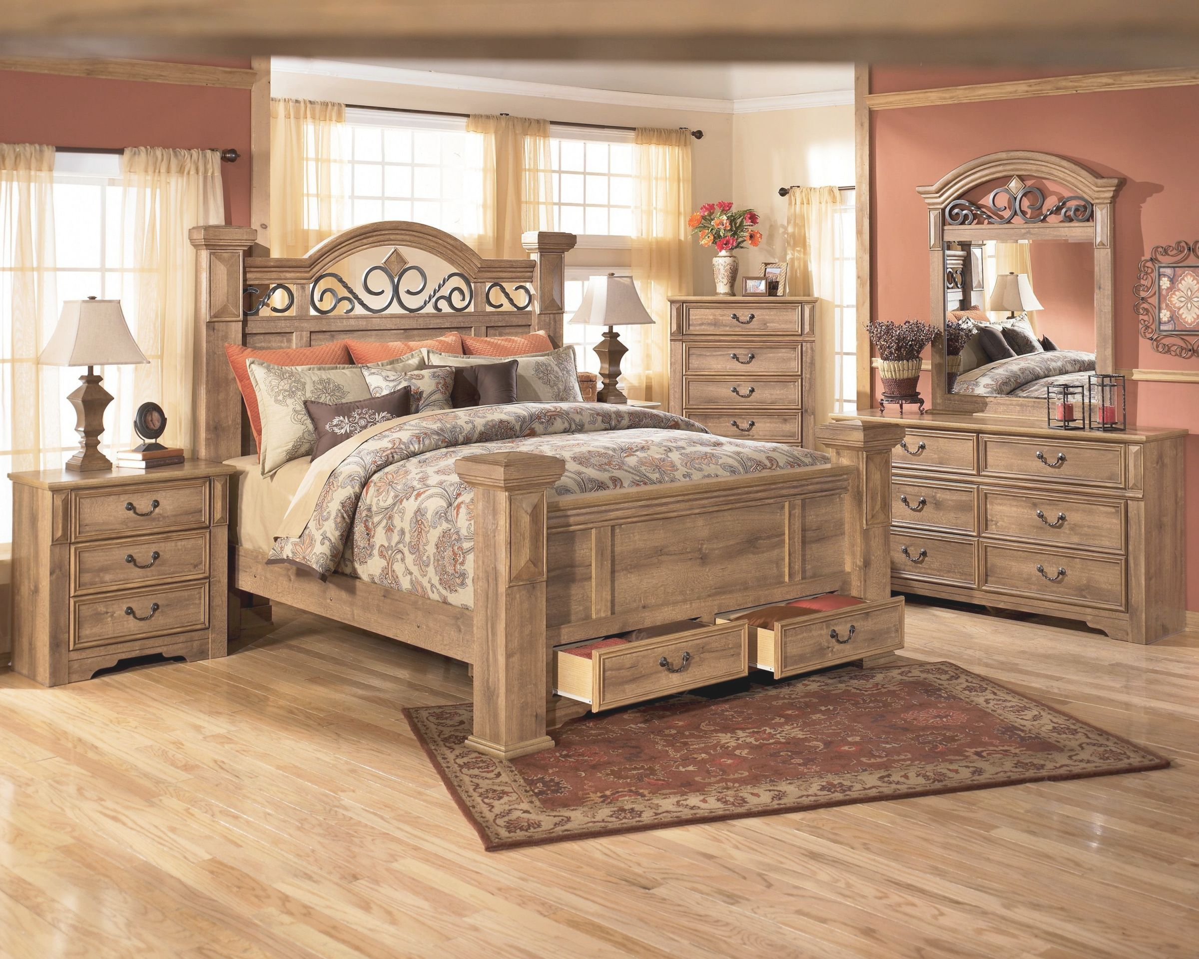 Unique Rustic Bedroom Furniture Sets Awesome Decors
