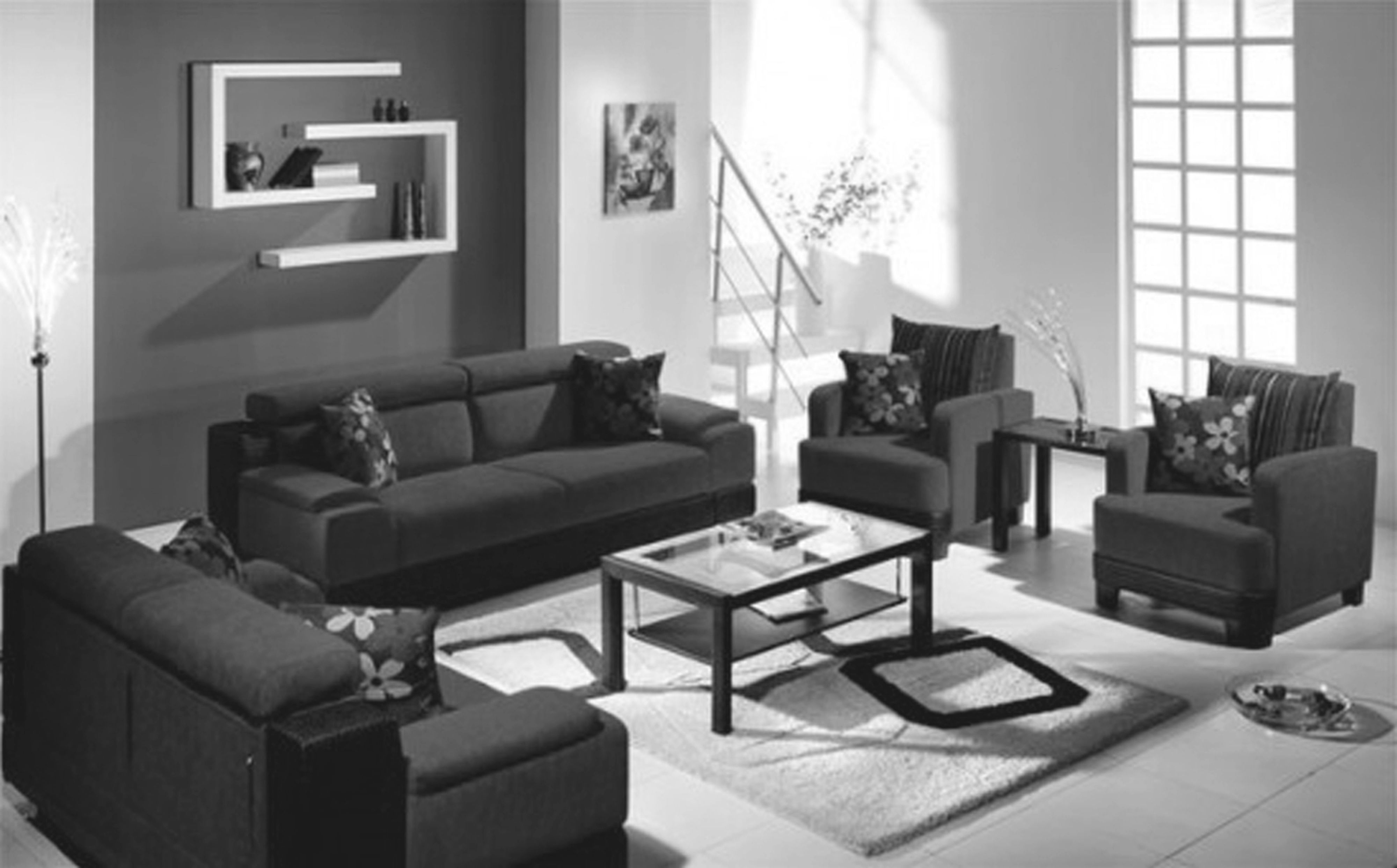 Interior Design Living Room Ideas Uk For Pretty Contemporary within Monochrome Living Room Decorating Ideas