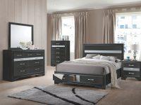 Jewel Black Storage Platform Bedroom Set – Queen | Nader's Furniture with Elegant Black Bedroom Furniture Set