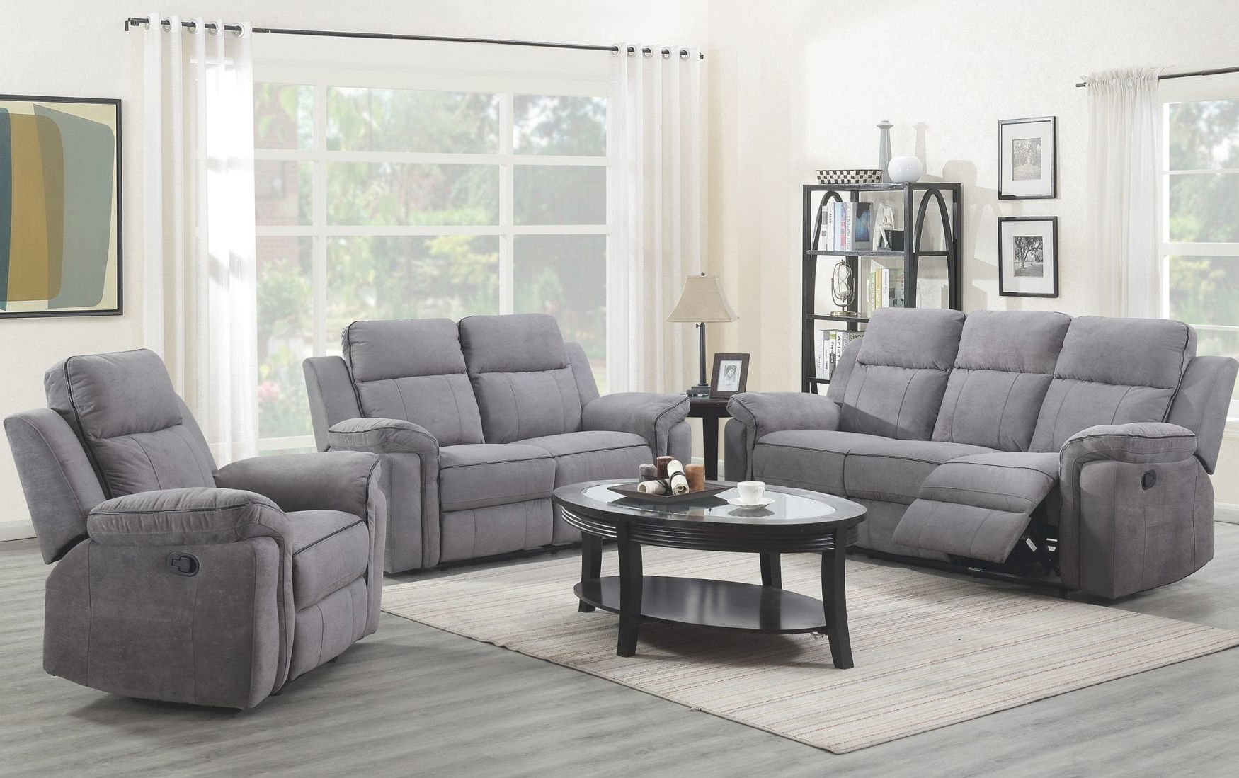 Jupiter Living Room - Reclining Sofa & Loveseat ( Jupiterlr) within Living Room Furnitures