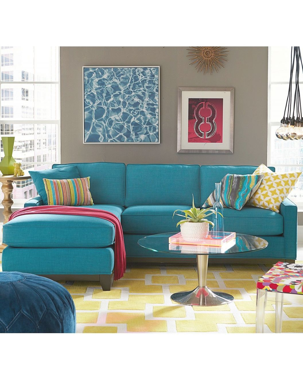 Keegan Fabric Reversible Sectional And Sofa Collection | New regarding Elegant Turquoise Living Room Furniture