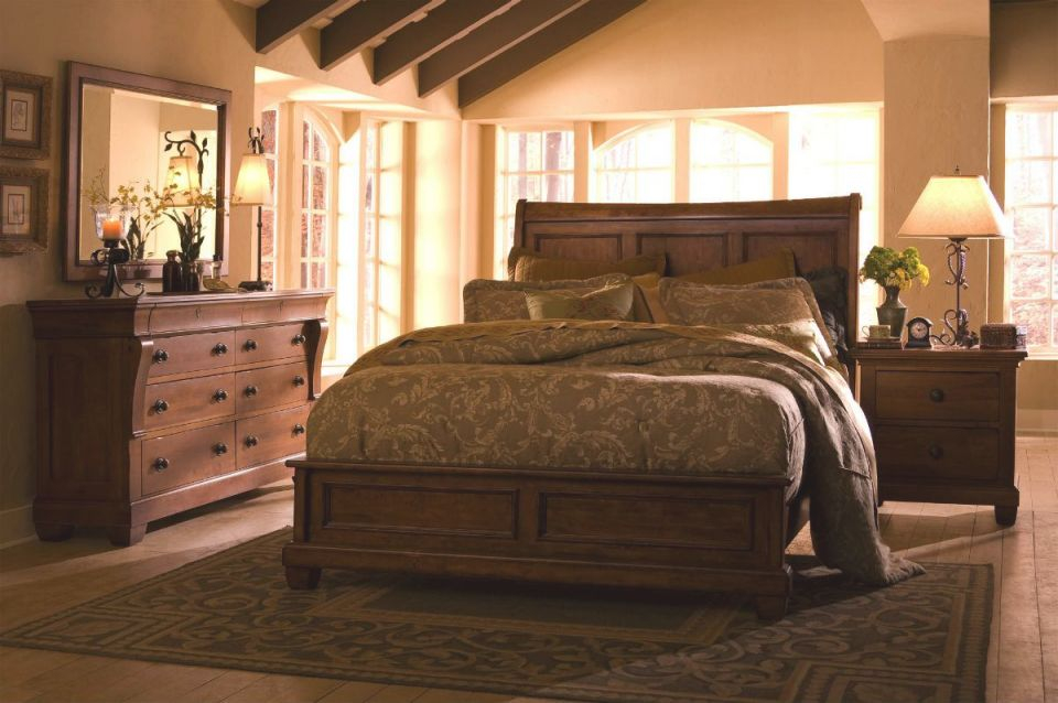 Kincaid Tuscano Solid Wood Low Profile Bedroom Set inside Wood Bedroom Furniture Sets