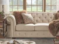 Knightsbridge Beige Fabric Button Tufted Chesterfield Sofa And Seating Inspire Q Artisan intended for Discount Living Room Furniture Sets