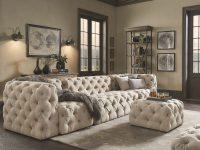 Knightsbridge Ii Beige Tufted Extra Long Chesterfield Modular Sofa Inspire Q Artisan pertaining to Luxury Modular Living Room Furniture