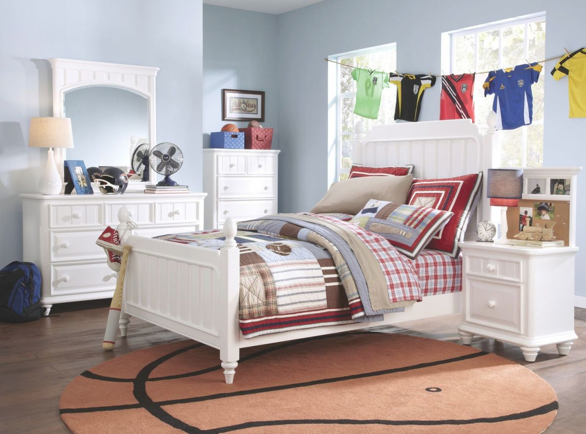 Laney 4-Piece Twin Bedroom Set – White regarding Beautiful Cheap White Bedroom Furniture Sets