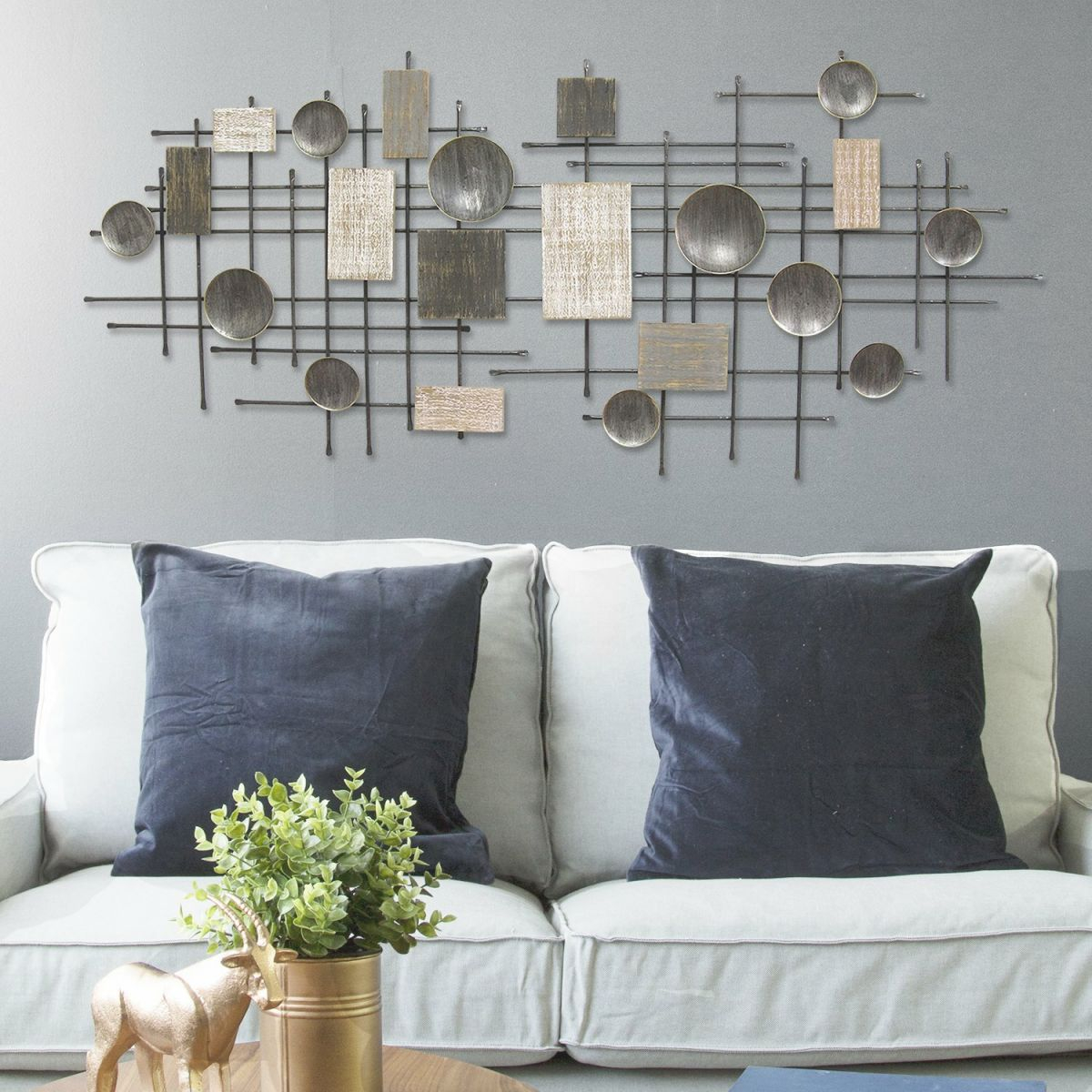 Large Modern Industrial Wall Décor with New Modern Wall Decor For Living Room