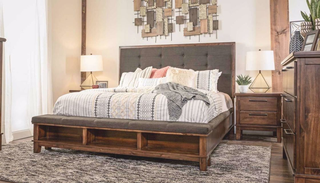 Latham 3-Piece Queen Bed, Dresser, Mirror & Nightstand intended for Cheap Queen Bedroom Furniture Sets