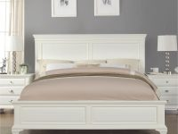 Laveno 012 White Wood Bedroom Furniture Set, Includes Queen Bed, Dresser, Mirror And 2 Night Stands for White Bedroom Furniture Set
