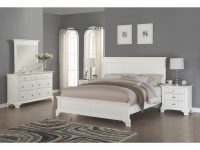 Laveno 012 White Wood Bedroom Furniture Set, Includes Queen Bed, Dresser, Mirror And 2 Night Stands intended for Bedroom Furniture Set