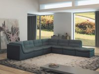 Lego 7-Piece Leather Modular Living Room Set pertaining to Luxury Modular Living Room Furniture