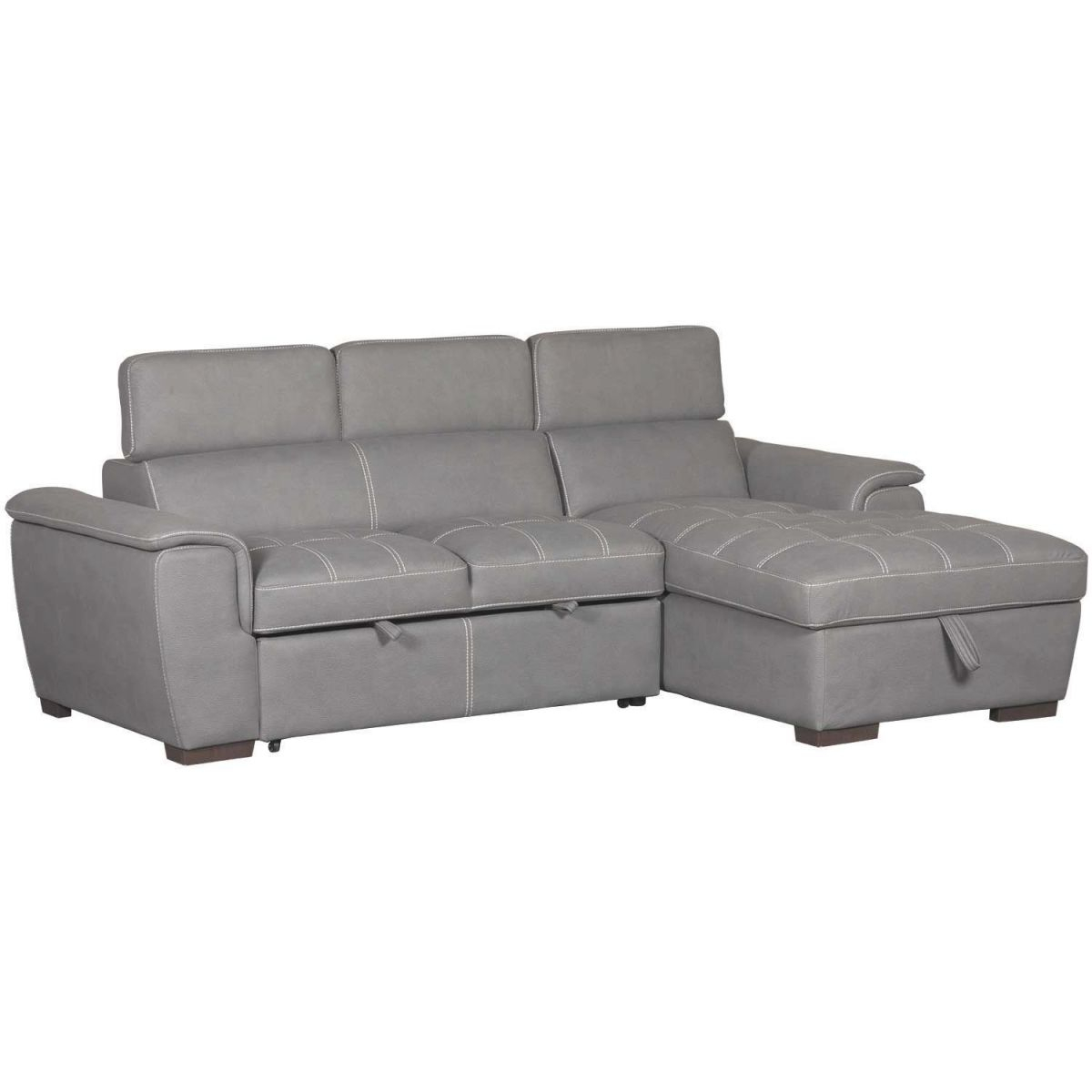 Levi 2 Piece Sectional With Pull Out Bed within 2 Piece Sectional With Chaise