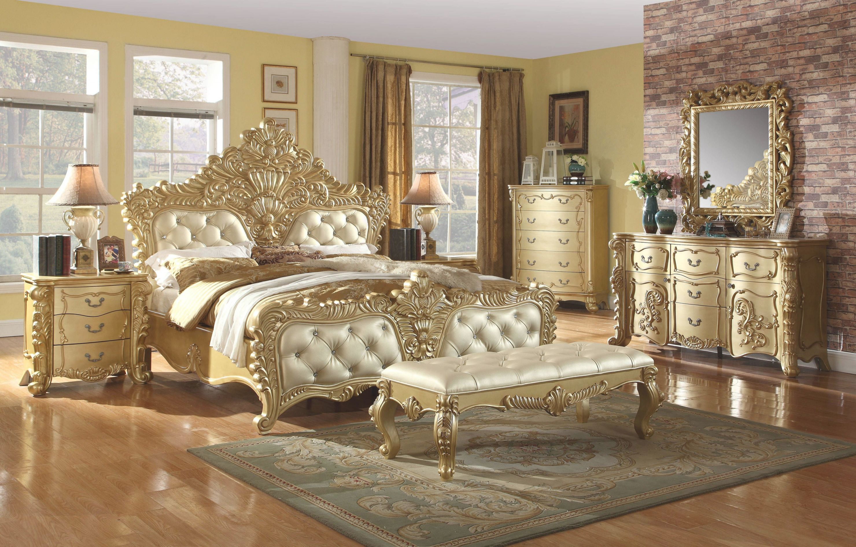 Likable Gold Bedroom Set Decor Queen And Yellow Fixtures Regarding Fresh Gold Bedroom Furniture Sets Awesome Decors