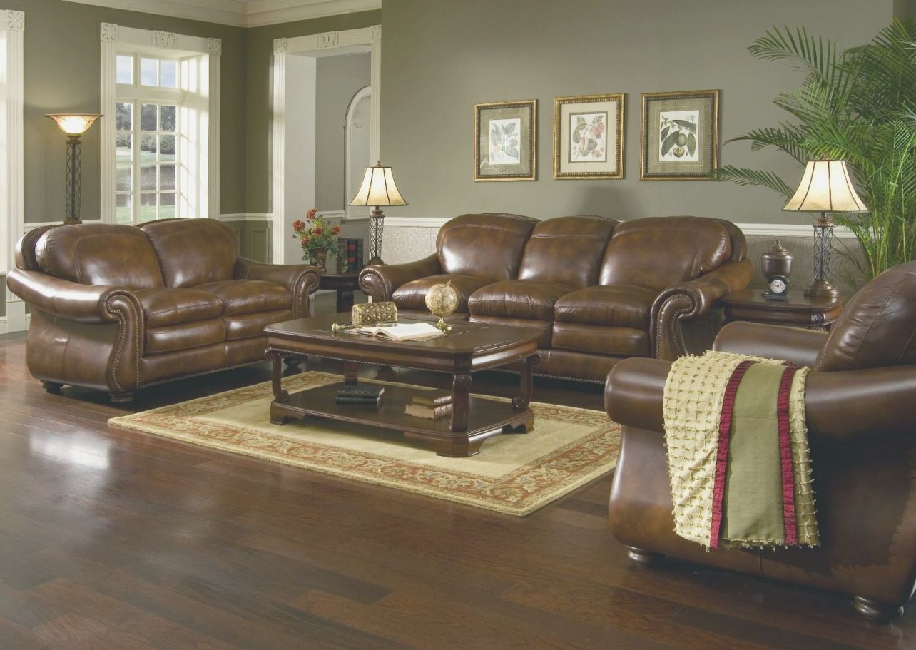 Living Room Decorating Ideas Dark Brown Leather Sofa Floor In Living Rooms With Leather Furniture Decorating Ideas Awesome Decors