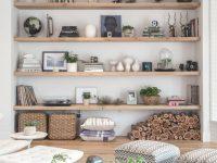 Living Room Open Shelf Styling Bethany Nauert's Portfolio regarding Unique Decorating Shelves In Living Room