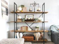 Living Room Shelf Ideas With Pumpkin Decorations For Fall with Decorating Shelves In Living Room