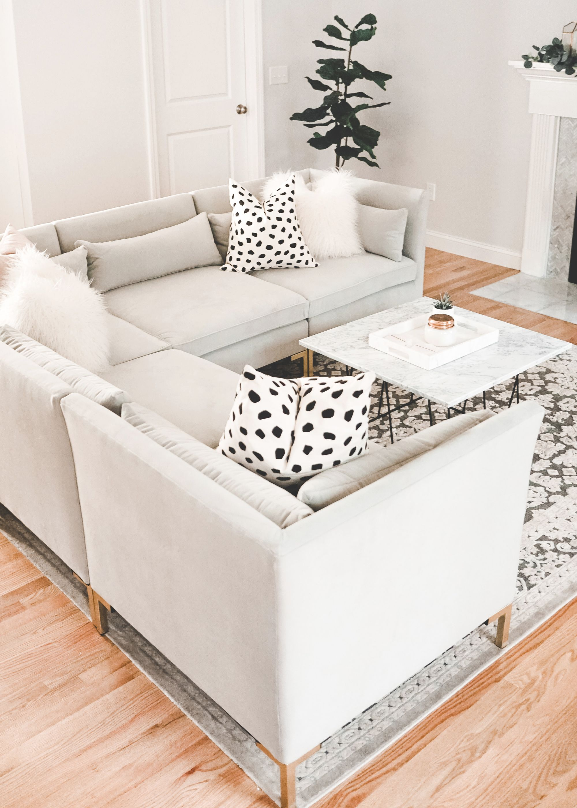 Living Room Update With Raymour & Flanigan – A Mix Of Min within Lovely Raymour And Flanigan Sectional Sofas