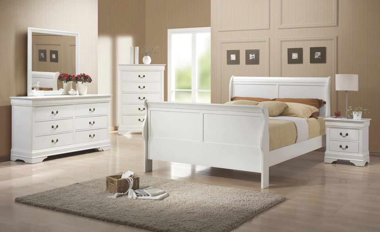 Louis Philippe White Bedroom Setcoaster within Beautiful Cheap White Bedroom Furniture Sets