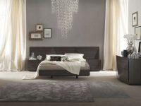 Made In Italy Wood Luxury Bedroom Furniture Sets With Long Headboard in Elegant Black Bedroom Furniture Set