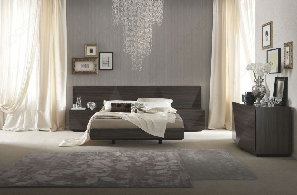 Made In Italy Wood Luxury Bedroom Furniture Sets With Long Headboard with Modern Bedroom Furniture Sets