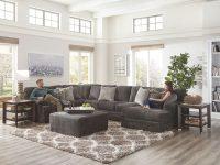 Mammoth Modular Sectional W/ Chaise (Smoke) within Modular Living Room Furniture