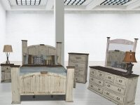 Mansion White Rustic Bedroom Set throughout Rustic Bedroom Furniture Sets