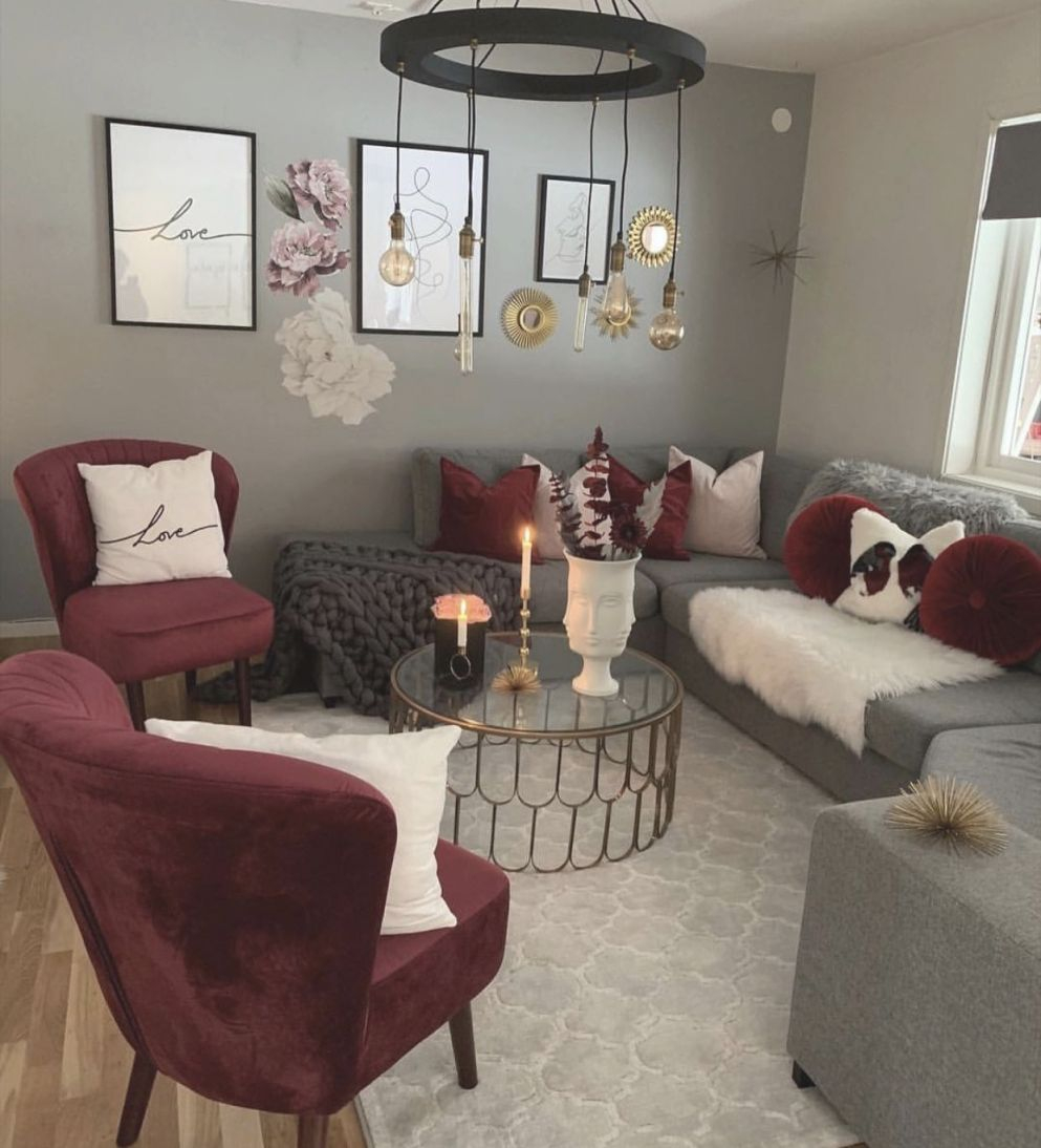 Maroon , Grey And White Living Room In 2019 | Living Room within Burgundy And Grey Living Room