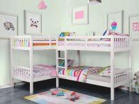 Marqutte Quadruple Twin Bunk Bedroom Set (White) with Best of Bedroom Set With Desk