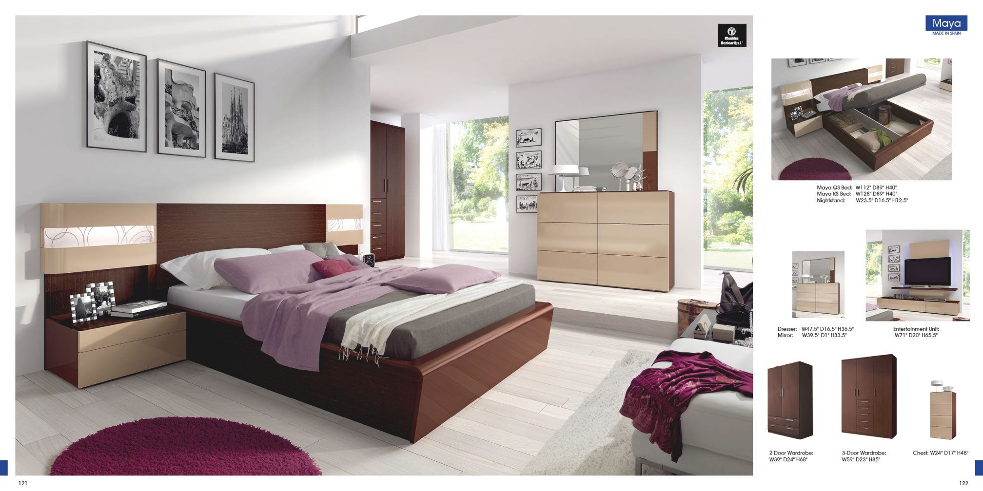 Maya pertaining to Modern Bedroom Furniture Sets