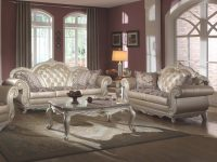 Meridian 652 Marquee Pearl White Living Room Sofa Set 2Pcs with regard to Luxury White Living Room Furniture Sets