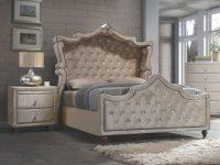 Meridian Furniture Diamond 2Pc Bedroom Set With King Canopy Bed with Diamond Furniture Bedroom Sets