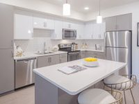 Model One Bedroom Kitchen At Aliso Apartments In Los Angeles with regard to Elegant One Bedroom Apartments In Los Angeles