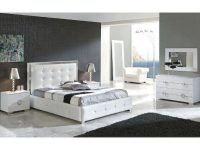 Modern Bedroom Set Valencia In White Made In Spain 33B241 pertaining to Luxury Contemporary Bedroom Furniture Sets