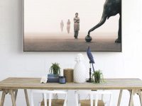 Modern Elephant Wall Art Print Zen Mediation Living Room On Canvas Wall Decor Me-Z2000 From Belladonna Home Decor throughout New Modern Wall Decor For Living Room