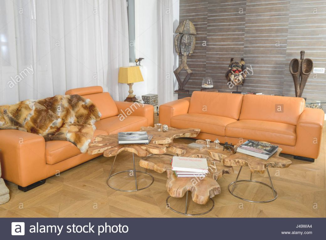 Modern Living Room With African Decorations Stock Photo intended for Best of African Decor Living Room