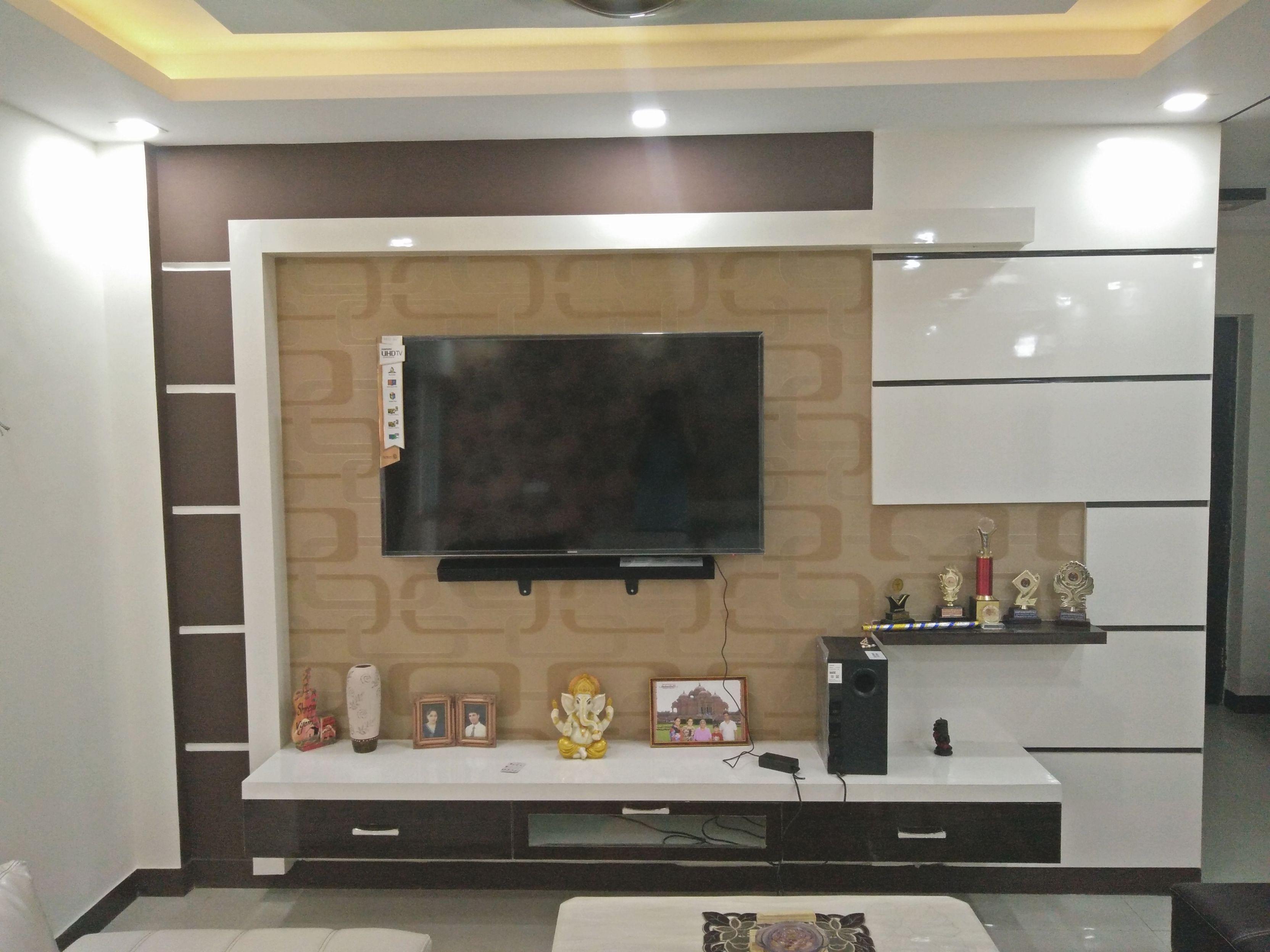 Modern, Stylish, Elegant, Brown-White Tv Unit Design throughout Awesome Stylish Tv Unit