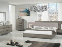 Modrest Enzo Italian Modern Grey Oak & Fabric Bedroom Set with regard to New Modern Bedroom Furniture Sets