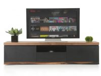 Modrest Norse Modern Black & Wood Tv Stand inside Stylish Tv Unit