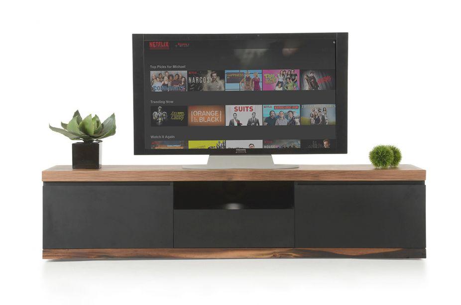 Modrest Norse Modern Black & Wood Tv Stand inside Stylish Tv Unit