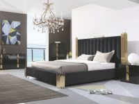 Modrest Token Modern Black & Gold Bedroom Set | Bedroom Set in Luxury Contemporary Bedroom Furniture Sets
