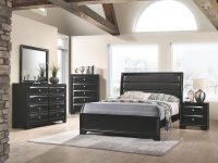 Monte Carlo Black Bedroom Set in Elegant Furniture Bedroom Set