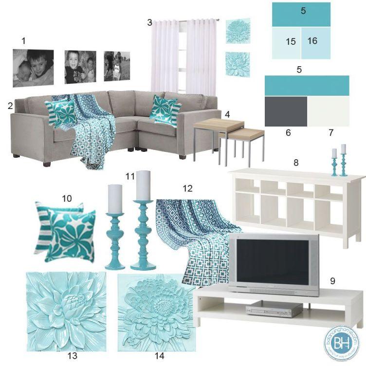 Mood Board Gray Aquamarine Living Room Home Decor For Lovely Aqua Living Room Decorating Ideas Awesome Decors
