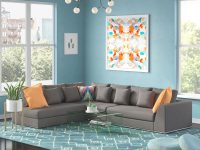 Moore Living Reversible Modular Sectional within Elegant Teal Living Room Furniture