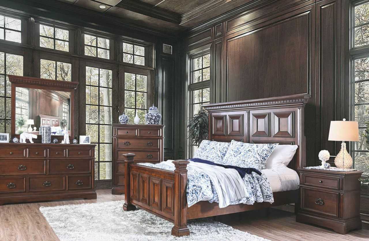 New Traditional Dark Brown Bedroom Furniture 5pc King Size Mansion Bed Set Dah In Beautiful Cheap White Bedroom Furniture Sets Awesome Decors