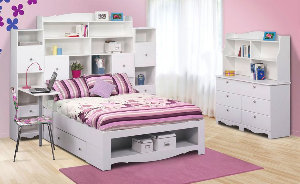 Nexera Pixel Youth Full Size Tall Bookcase Storage Bedroom Collection intended for Luxury Full Size Bedroom Furniture Sets