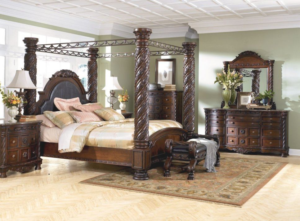 North Shore Canopy Bed Set throughout Bedroom Sets King
