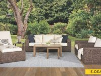 Odeon All-Weather Banana Weave 6-Piece Outdoor Living Room throughout Unique Outdoor Living Room Furniture
