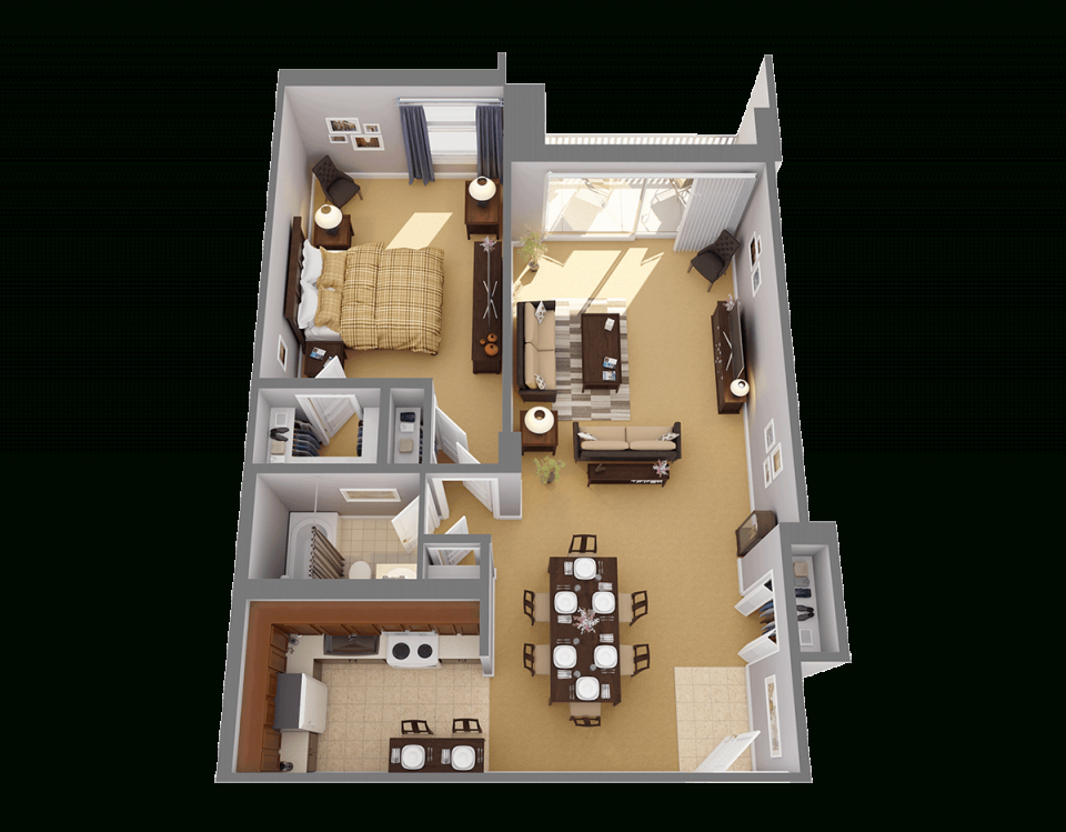 One Bedroom Apartments In Chevy Chase | Highland House with regard to Fresh One Bedroom Apartment Floor Plans