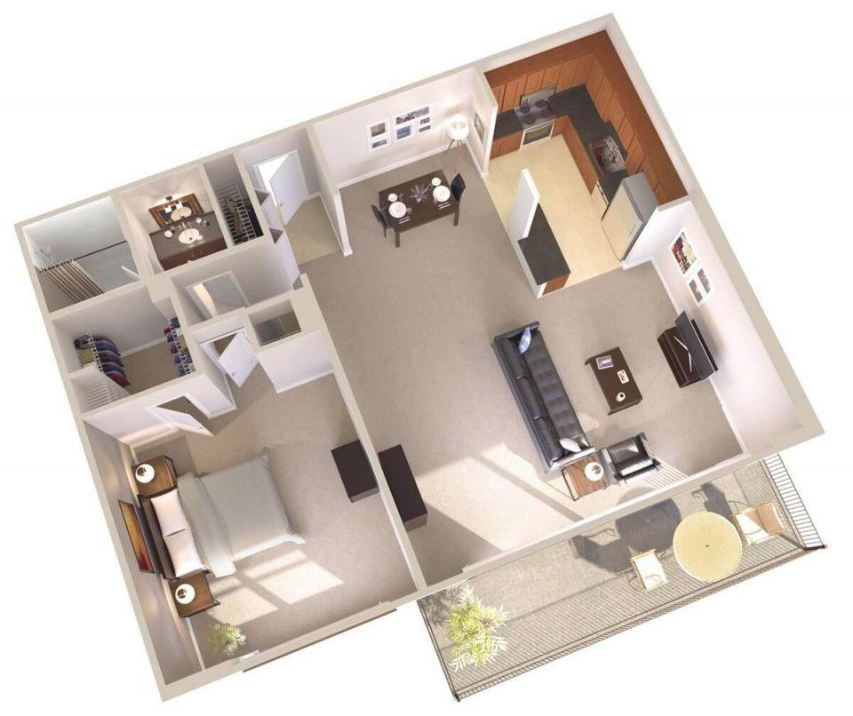 One Bedroom Apartments With Balcony | Topaz House regarding Fresh One Bedroom Apartment Floor Plans